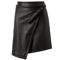Browns fashion &amp; designer clothes &amp; clothing | BLK DNM | Leather Wrap Skirt