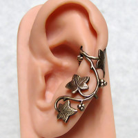 Forest Ivy Ear Cuff ' Left Ear ' by ranaway on Etsy
