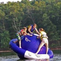 Aviva 8-Foot Inflatable Saturn Water Toy: Sports & Outdoors