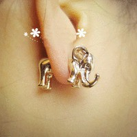 accessoryinlove  3D Elephant Single Ear Stud