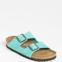 Birkenstock 'Arizona' Soft Footbed Nubuck Sandal (Women)