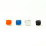 Tiny squares stud earrings / choose your color /Orange, Blue, White and Black 4 colors