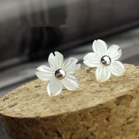 accessoryinlove  Flower Shape Seashell Studs for Women