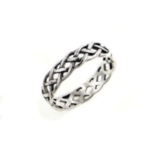 Neverending Celtic Knot Sterling Silver Pinky Ring