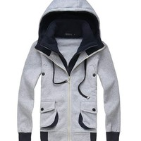 *Free Shipping* Light Grey Men Coat M/L/XL 611-315