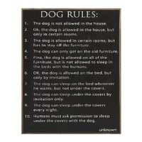 Collins Dog Rules Decorative Sign