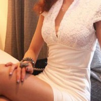 THE ONE SEXY LACE DRESS IN ALL WHITE
