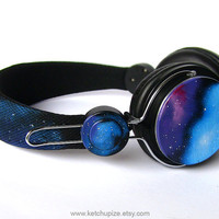 NEW Space Galaxy Nebula Custom headphones earphones by ketchupize