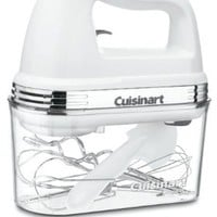 Cuisinart HM-90S Power Advantage Plus 9-Speed Handheld Mixer with Storage Case, White: Kitchen & Dining
