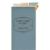 One Line a Day: A Five-Year Memory Book (Five Year Memory Book) (9780811870191): Chronicle Books Staff: Books: Reviews, Prices & more