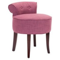 One Kings Lane - Furniture for All - Vivi Vanity Stool, Rose