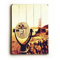 Amazon.com: Long View San Fran 14&quot;x20&quot; Artistic Planked Wood Sign by Shannon Clark: Shannon Clark: Home &amp; Kitchen