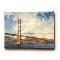 Amazon.com: Golden Gate Bridge 14&quot;x20&quot; Limited-Edition Artistic Planked Wood Sign by Shannon Clark: Shannon Clark: Home &amp; Kitchen
