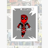 Little Deadpool superhero character print