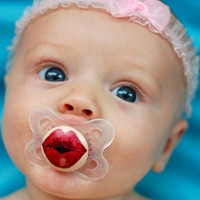 Kissy Face- Hand Painted Custom Pacifier in MAM