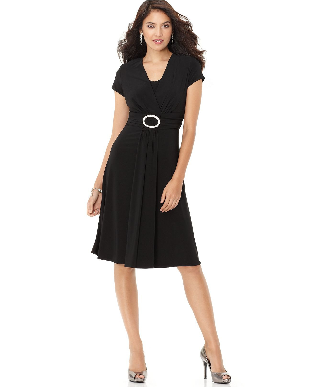 R m richards dress cap sleeve cocktail from macys if i had for Macy s dresses for weddings