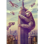 Slothzilla iPhone 4 &amp; 4S Hard Case