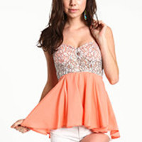 Bustier Babydoll Top