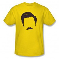 Parks and Recreation Ron Swanson Hair and Mustache T-Shirt