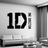 One Direction Wall Decal Vinyl art Sticker 1 Direction Logo