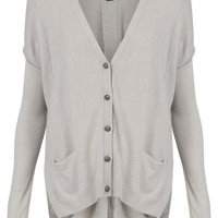 Knitted Split Back Cardi - Knitwear - Clothing - Topshop USA