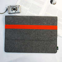 "Macbook pro Macbook 13, 13"" Macbook Air Macbook Case Sleeve Felt Elastic Strip Handmade Orange Elastic Strip :E1148-MGra03o"
