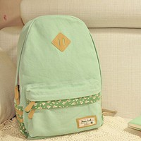 Mint Green Canvas Backpack