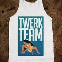 Twerk Team Pocahantas - That Funny Stuff - Skreened T-shirts, Organic Shirts, Hoodies, Kids Tees, Baby One-Pieces and Tote Bags