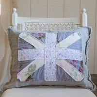 Union Jack Posey Pillow from Rachel Ashwell Shabby Chic Couture