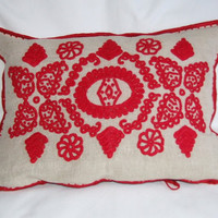 Beautiful Hungarian hand embroidered pillow case