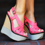 Her Summer Strut Wedges: Coral | Hope's
