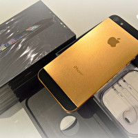 16GB iPhone 5 black and 24ct Gold Edition, with piano ibox Limited Edition