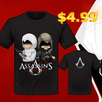 2013 HOT Mens New Assassins Creed 3 T-shirt Cosplay Costume Cotton Short Top Tee