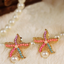 Colorful Sea Star Earring