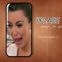 Kim kardashian Crying Ugly : Handmade case For Iphone 4/4s ,5