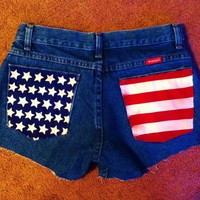 American flag pocket shorts