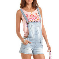 Hot Kiss Railroad Stripe Shortall: Charlotte Russe