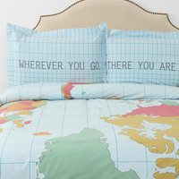 Map Sham - Set Of 2