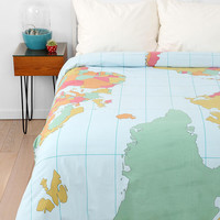 Map Duvet Cover- Multi Full/queen