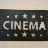 Cinema Movie Ticket Metal Art