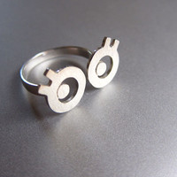 Miss Googly Eyes - Handmade Silver Ring