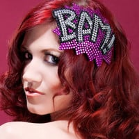 BAM Rhinestone Fascinator, Hot pink and crystal, As seen in Curve magazine
