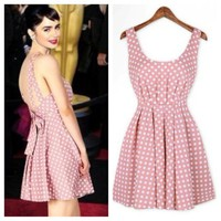 Beautiful Backless Polka Dot dress