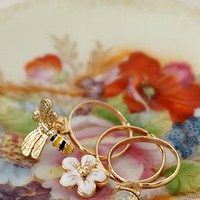 Bouquet For You Ring Set