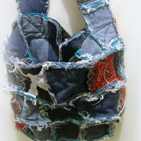 Denim Rag Bag/Rag Bag Purse