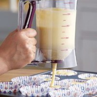 Cake Batter Dispenser With Measuring Label By Collections Etc: Kitchen &amp; Dining