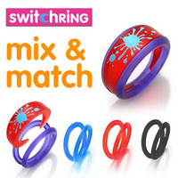 Switchring | Funky two-piece interchangeable rings featuring various designs and colours - LatestBuy Australia