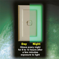 NightGlow Light Switch Covers | No more fumbling around in the dark searching for the light switch - LatestBuy Australia