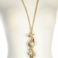 Seascape Necklace in Gold - New Arrivals