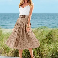 Oval eyelet skirt from VENUS